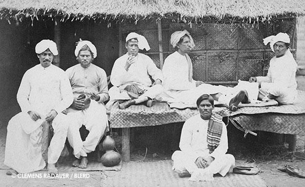 1882: Hagenbeck's Singhalesen (Sinhalese) of the VÖLKER-SCHAU