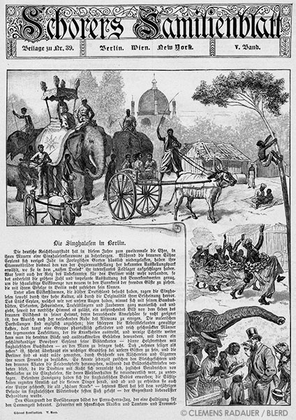 1884: The Singhalesen (Sinhalese) in Berlin