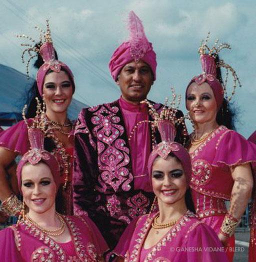Banda Vidane (Ganesha's father) with other circus performers