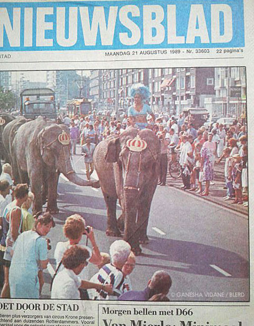Ganesha's last circus appearance