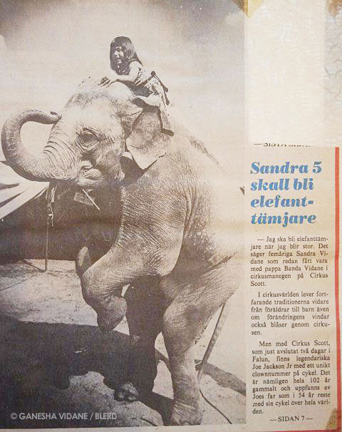 Article on little Ganesha in the circus